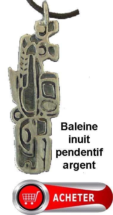baleine inuit pendentif en argent symbole signification