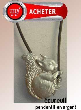 écureuil pendentif argent bijoux signification symbole