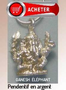 Ganesh pendentif eléphant dieu argent bijoux signification symbole