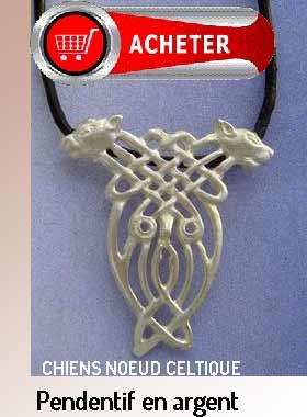 noeud celtique chiens pendentif argent signification symbole