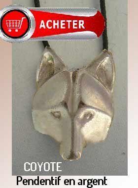 coyote pendentif argent bijoux signification symbole