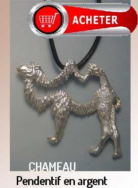 chameau pendentif argent bijoux signfication symbole