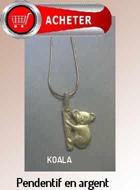 koala pendentif argent bijoux signification symbole