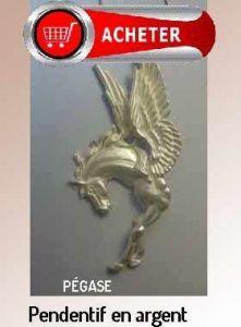 Pégase pendentif bijoux argent cheval avec ailes signfication symbole