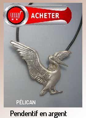 pélican pendentif argent bijoux signification symbole