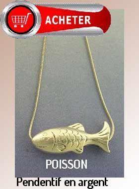 poisson pendentif argent bijoux signification symbole
