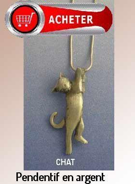 chat pendentif petite bijoux argent or signification symbole