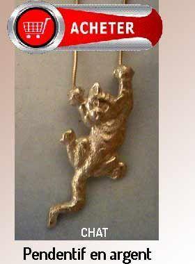 chat pendentif bijoux argent signification signifié
