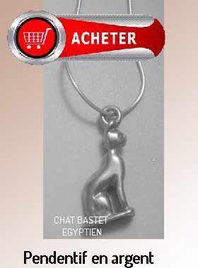 Bastet chat pendentif déesse egyptienne bijoux signification symbole