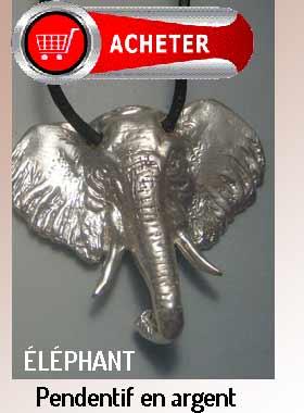 tête d'éléphant pendentif africain bijoux signification symbole