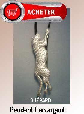 guepard pendentif argent bijoux signification symbole