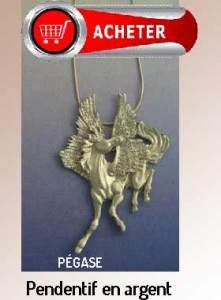 Pégase pendentif argent signification symbole