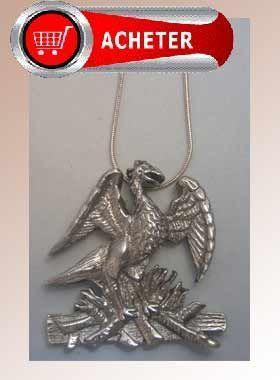 phénix pendentif argent bijoux signification symbole