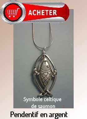 saumon poisson celtique pendentif argent bijoux signification symbole