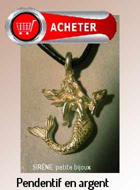 sirène pendentif bijoux argent signification symbole
