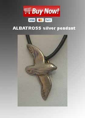 albatross silver pendant necklace