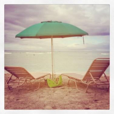 Green Beach Tote
