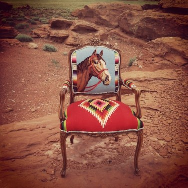 TOTeM Horse Chair on Red Rocks