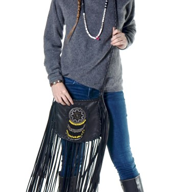 Emily & Black Fringe Bag