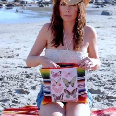 Jamie & Butterfly Clutch at the Beach