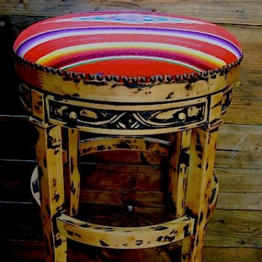Serape Bar Stool 1-of-4
