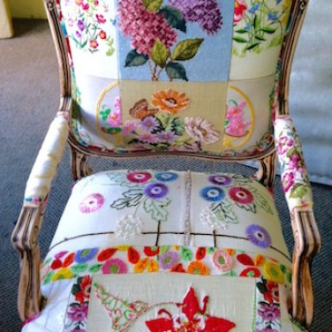TOTeM 70's Patchwork Embroidered Chair