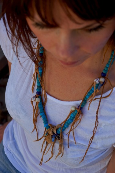 Jamie & Native American Blue Necklace