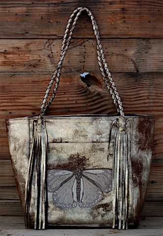 Metallic Butterfly Tote