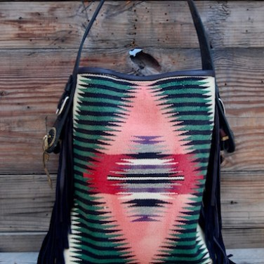Navajo Pink & Green Bucket