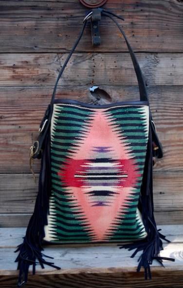 Navajo Pink & Green Bucket
