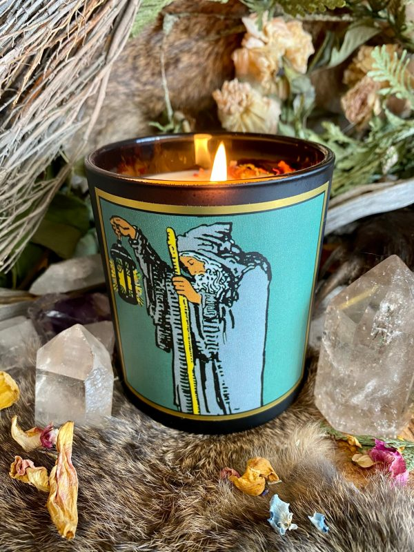 The Hermit Tarot Candle