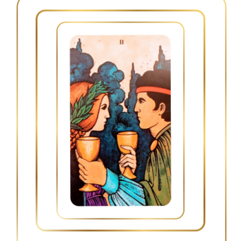 Two of cups tarot card.