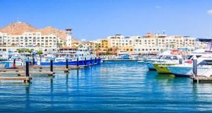 Cabo San Lucas Mexico. The marina bay.