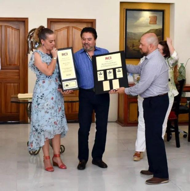 receiving award Marina Fiesta