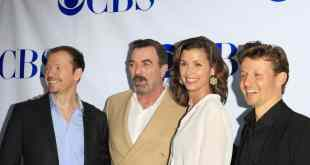 Donnie Wahlberg, Tom Selleck, Bridget Moynahan, Will Estes at a screening of CBS's 'Blue Bloods' at Leonard H.