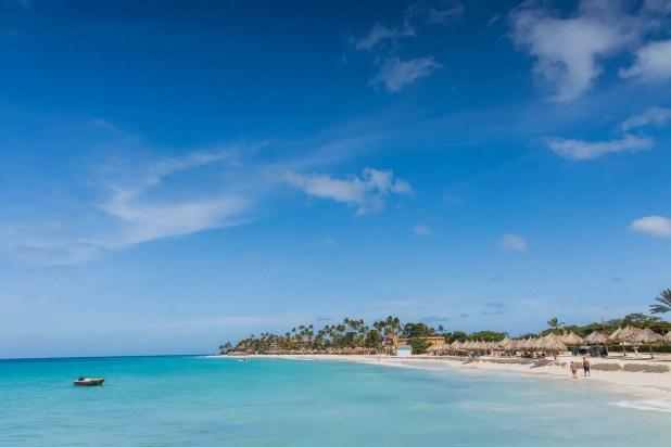 Eagle Beach of Aruba Island