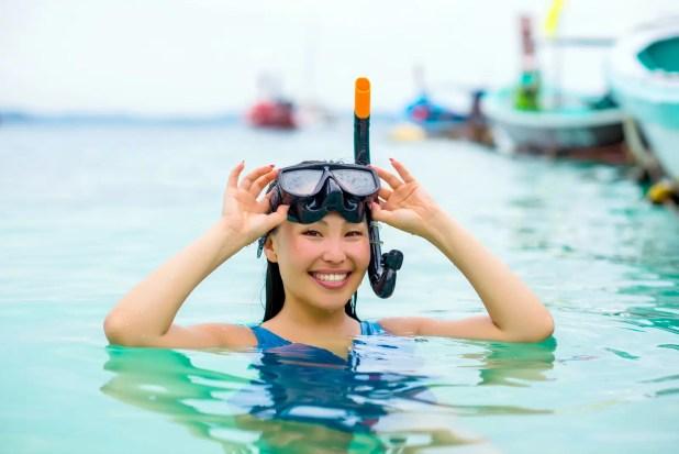 snorkeling is fun