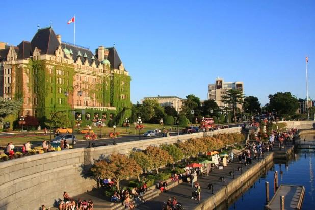 Victoria's beautiful inner harbour, Vancouver Island, B.C., Canada.