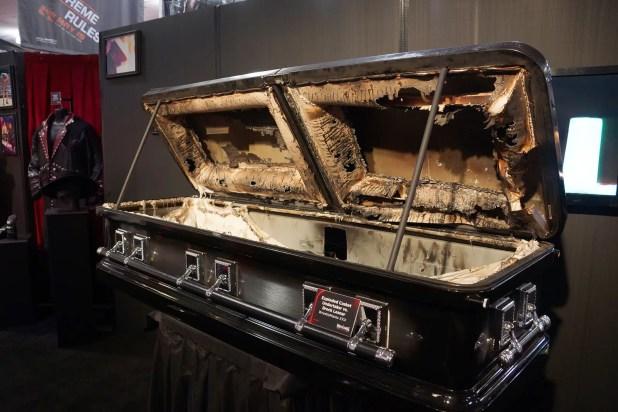 Exploded Casket from Undertaker vs. Brock Lesnar match at Wrestlemania, Entrance Songs
