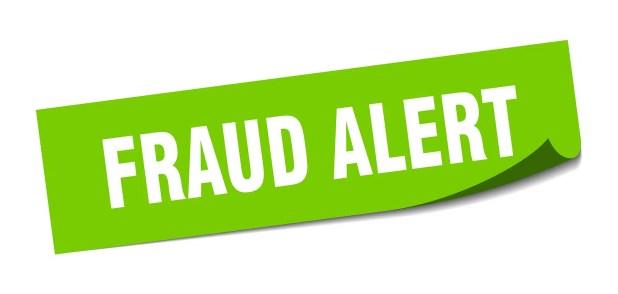 fraud alert sticker