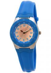 FMD by Fossil Ladie's Standard 3 hand Analog Base Metal Silicone Watch Blue