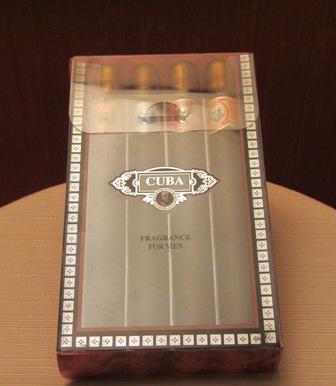 CUBA CIGARS 4 PCS SET FOR MEN 35 ml each