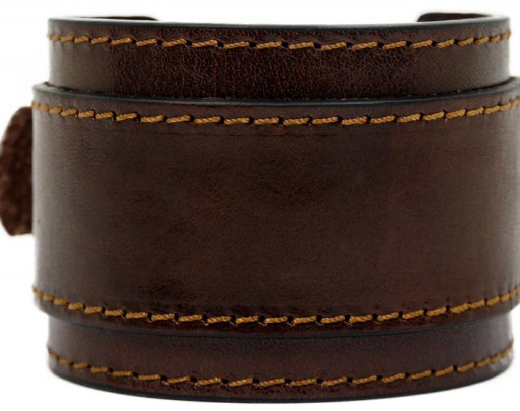 DOUBLE STRAP BROWN LEATHER BRACELET FOR MEN - THE MOVIEGOER