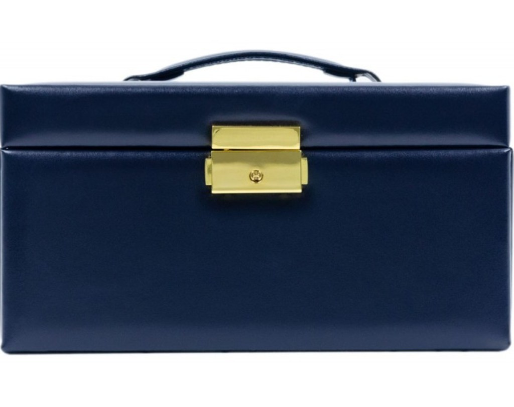 NAVY-BLUE LEATHER JEWELRY BOX – BELOVED