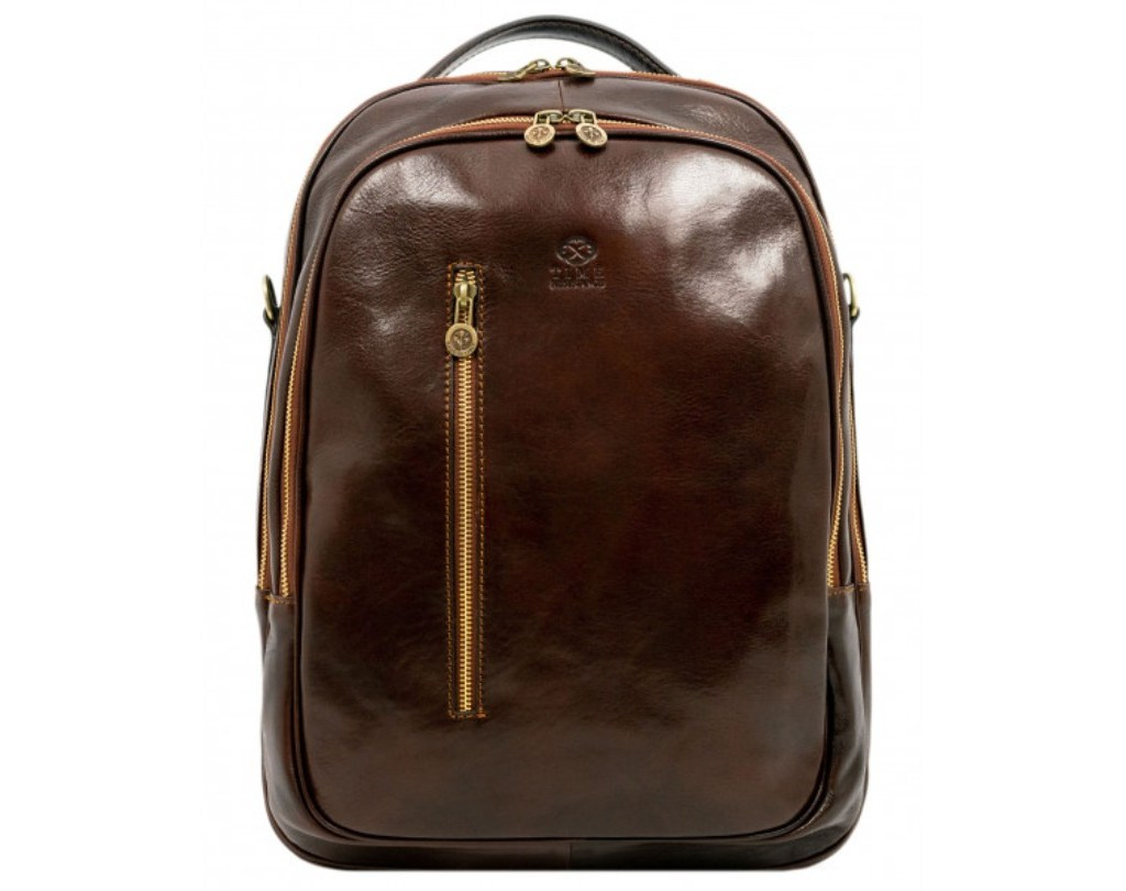 DARK BROWN LEATHER BACKPACK – THE OVERSTORY