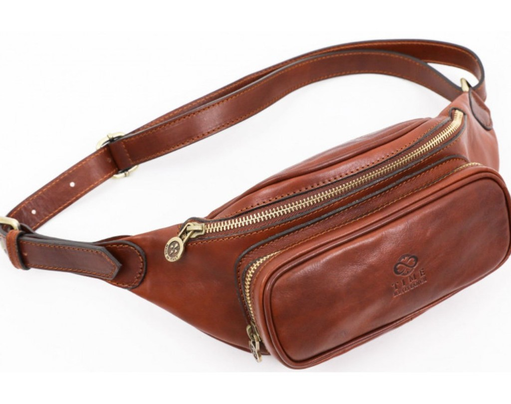 BROWN LEATHER FANNY PACK BELLY BAG – INDEPENDENT PEOPLE