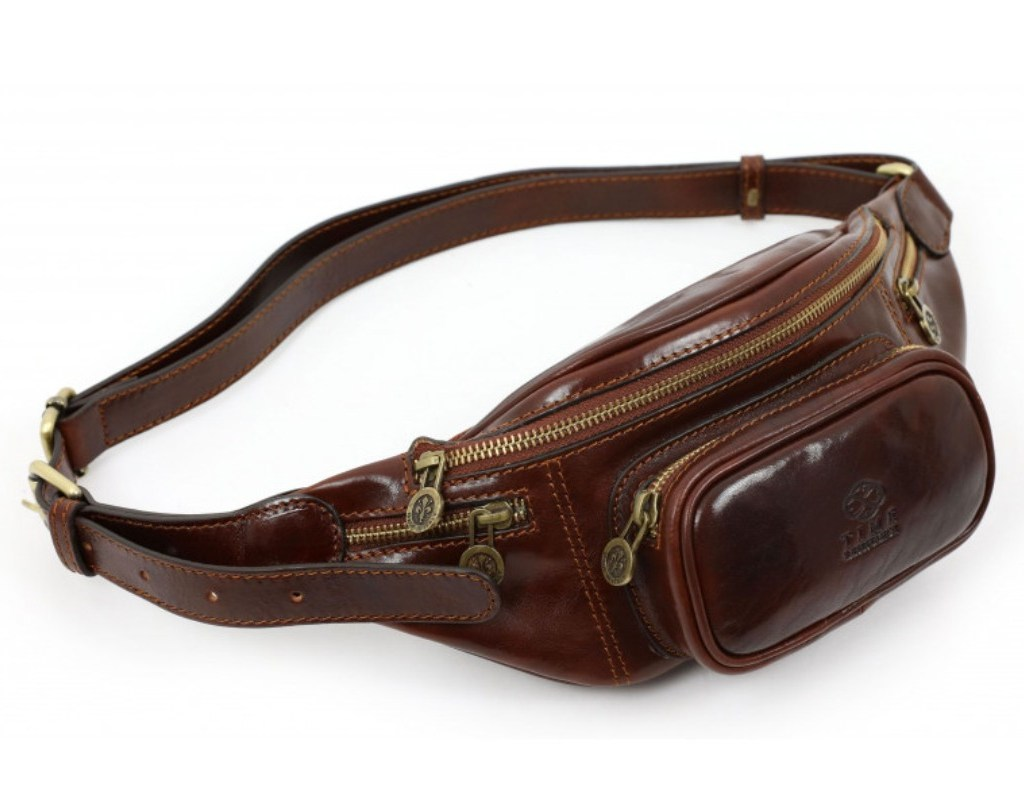 DARK BROWN LEATHER FANNY PACK BELLY BAG – NATIVE SON