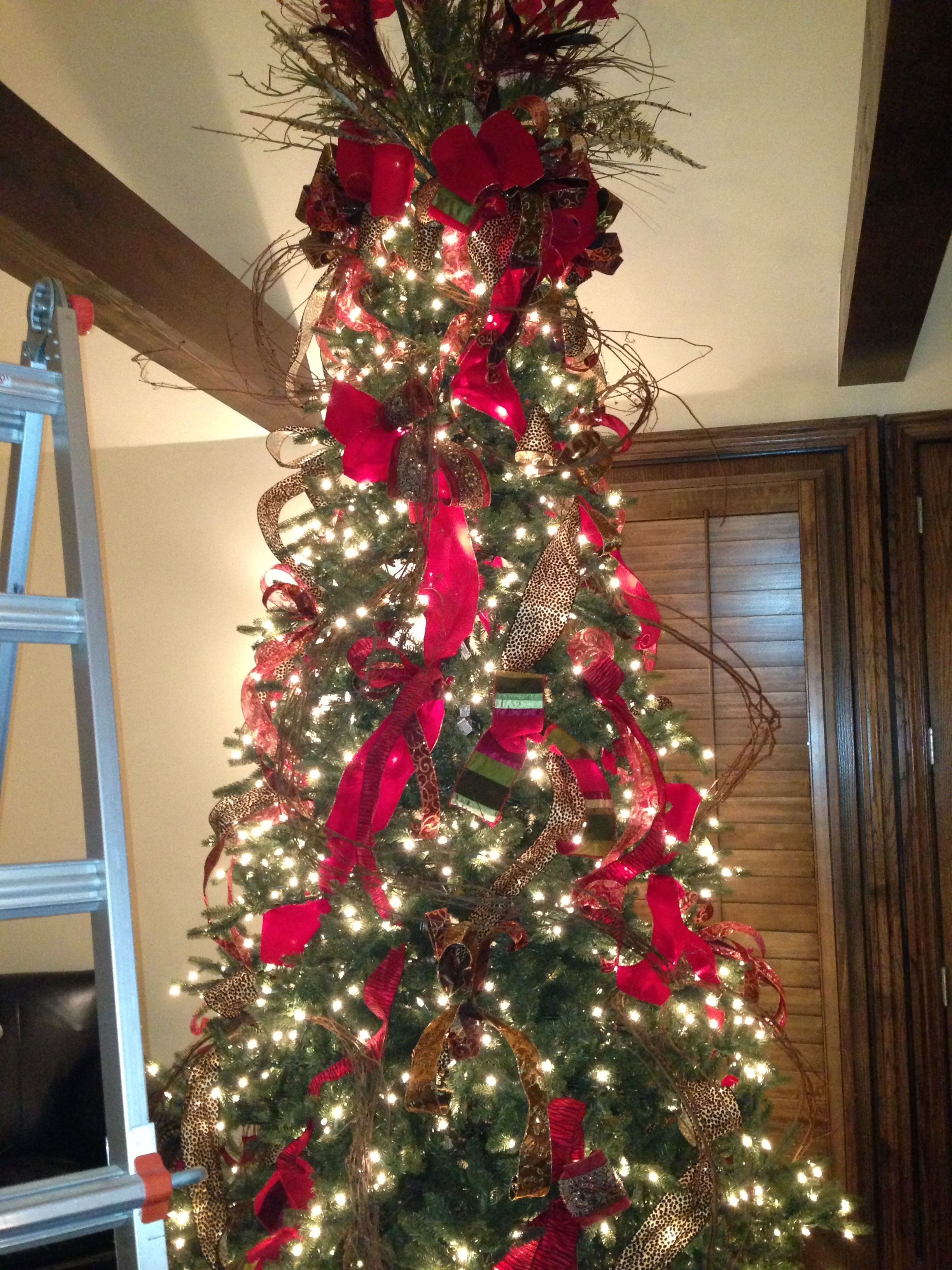 Grapevine Wreath and a Woodsy Christmas Tree  To the Good Life