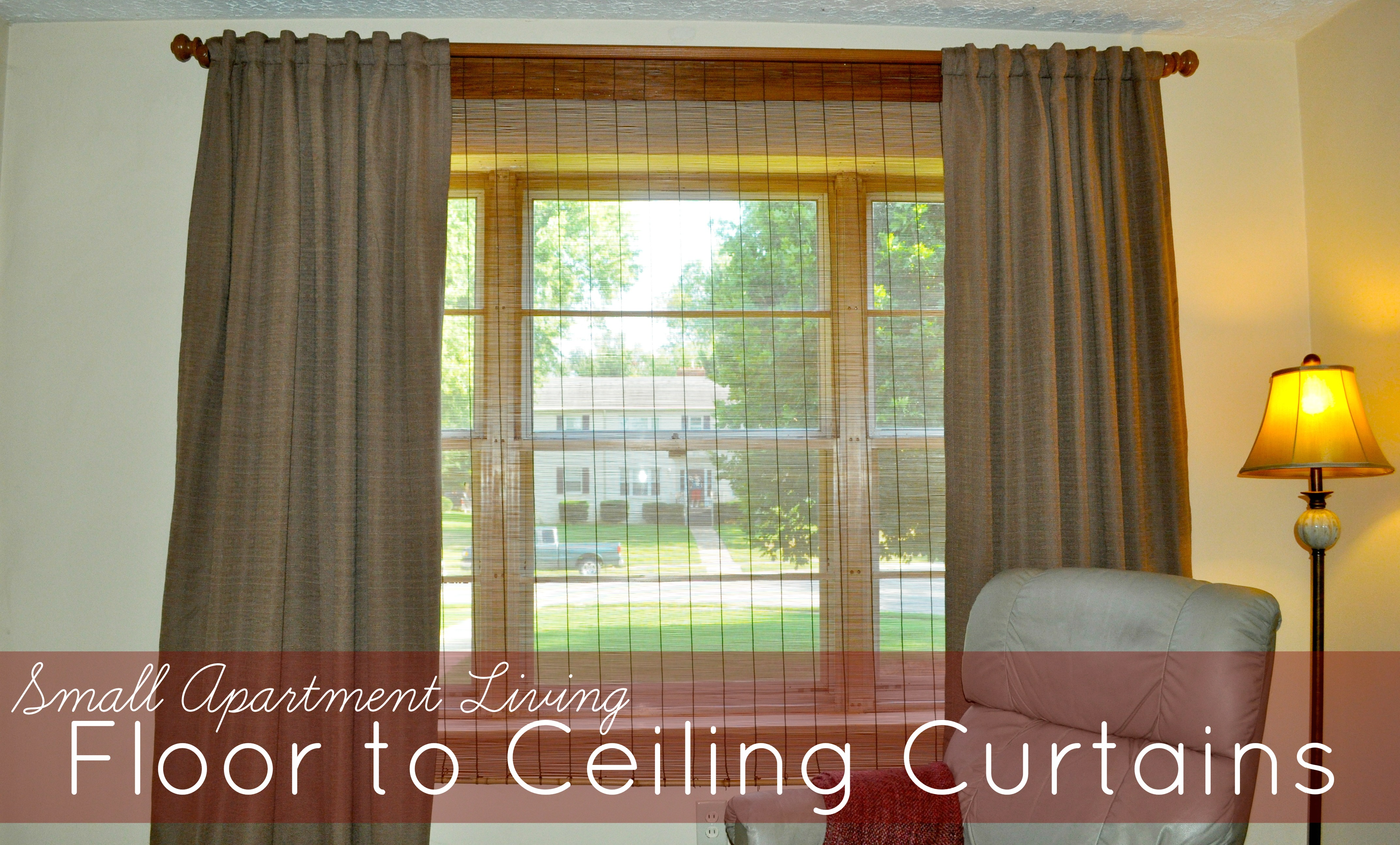 small apartment living: floor to ceiling curtains - to the heights