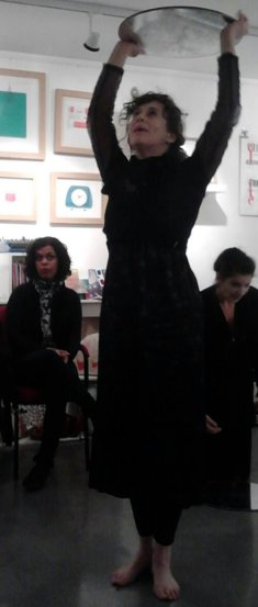 Cafe Reason butoh group with mirrors